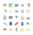 Electronics Colored Icons 3 vector image vector image