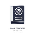 email contacts icon on white background simple