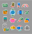 finance and banking color istickers vector image vector image