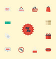 flat icons sign buy now present and other vector image vector image