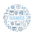 games round in outline style vector image vector image