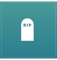 grave flat icon vector image