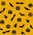 halloween orange festive seamless pattern endless vector image vector image