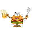 Hamburger Cartoon vector image vector image