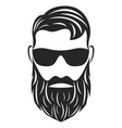 head hipster logo vector image