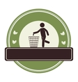 human silhouette recycling icon vector image vector image
