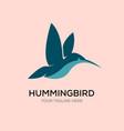 hummingbirds line logo designs vector image vector image