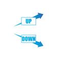 increasing and decreasing arrow setblue arrows vector image vector image