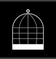 iron cage it is icon vector image