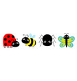 ladybug ladybird bee bumblebee butterfly spider vector image vector image