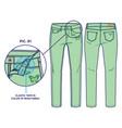 light green summer pants vector image vector image
