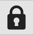 lock sign icon padlock locker business concept vector image