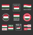 made in hungary icon set product labels of vector image