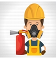 man mask extinguisher icon vector image