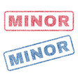minor textile stamps vector image vector image