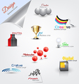 modern icons set 2 vector image vector image