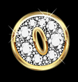 o gold and diamond bling vector image vector image