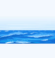 ocean waves nature background vector image vector image