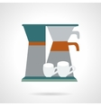 Office coffee maker flat icon vector image