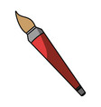 paint brush isolated vector image