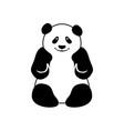 panda logo design template vector image