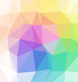 pastel full color spectrum polygon triangular vector image vector image