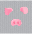 pig s nose and ears carnival mask for the new vector image