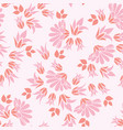 pink flowers seamless repeat floral pattern vector image vector image
