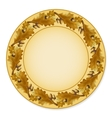 Plate with oak leaves vector image vector image