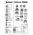 poster about summer residence menu cooking vector image
