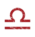 Red grunge Libra logo vector image vector image