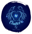 round zodiac sign cancer vector image vector image