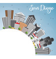 san diego skyline with gray buildings blue sky vector image vector image