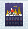santa claus riding bicycle with gift boxes vector image