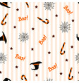 seamless pattern with halloween hat candies and vector image vector image