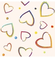 Seamless pattern with pencil hearts vector image