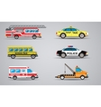 set isolated transport icons fire vector image