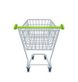 shopping cart for supermarket vector image vector image