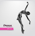 silhouette of a dancing girl dancer woman vector image vector image
