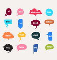 speech bubbles cartoon clouds with interrogative vector image vector image