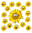 sunflower cartoon vector image vector image