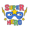 superhero mask with star doodle style vector image