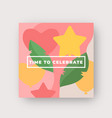vibrant colors birthday pattern abstract vector image vector image