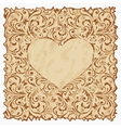 Vintage postcard with heart vector image vector image
