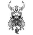 Ancient viking head logo for mascot design vector image