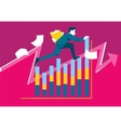 Abstract business concept vector image vector image