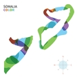 Abstract color map of Somalia vector image