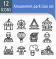 amusement park line icon vector image