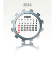 August 2014 - calendar vector image vector image