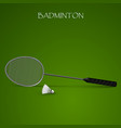 badminton background with racket and shuttlecock